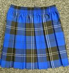 Tartan Blue box pleat skirt